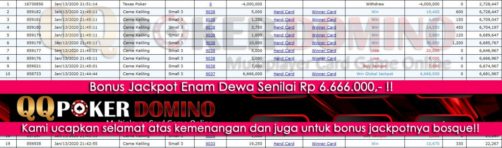 Testimoni Player QQ Poker Domino Bermain Ceme